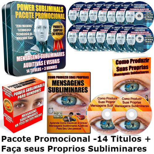 re-programação subliminar titulos pacote promocional